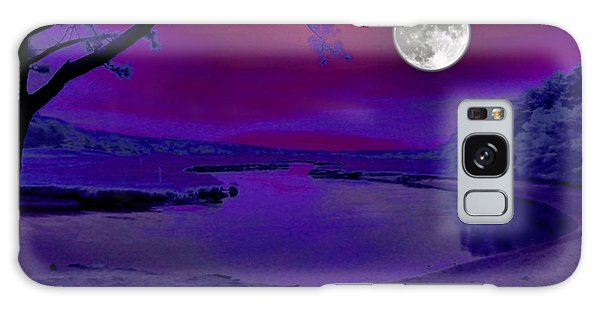 Purple Reign Galaxy Case by Robert McCubbin