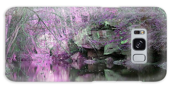 Purple Rock Reflection Galaxy Case by Lorna Rogers Photography