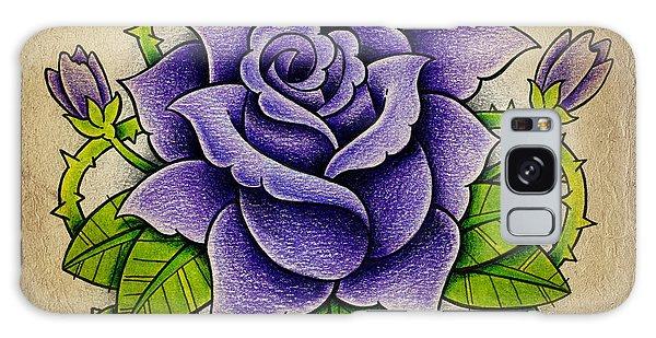 Bud Galaxy Case - Purple Rose by Samuel Whitton