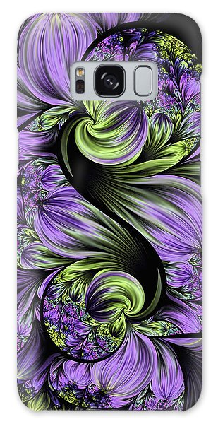 Purple Silk Flowers Galaxy Case