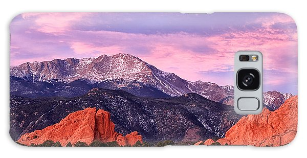 Purple Skies Over Pikes Peak Galaxy Case