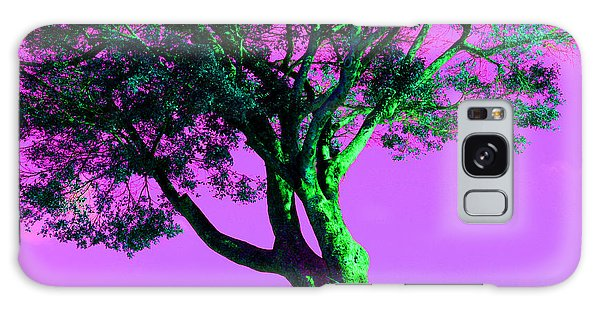 Purple Sky Tree Galaxy Case
