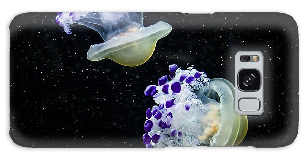 Purple Spaceships Galaxy Case