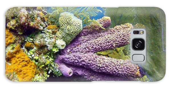 Reef Diving Galaxy Case - Purple Sponge by Dave DiFiore