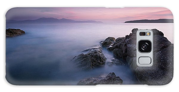 Purple Sunset With Arran Views Galaxy Case by Fiona Messenger