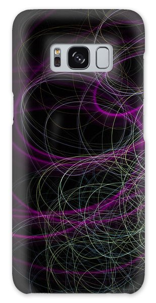 Purple Swirls Galaxy Case