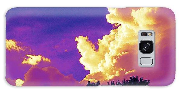 Purple Thunder Galaxy Case by Deborah Fay