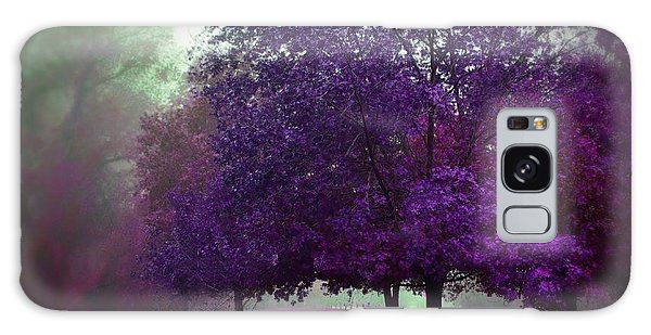 Purple Trees  Galaxy Case