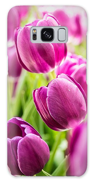 Purple Tulip Garden Galaxy Case