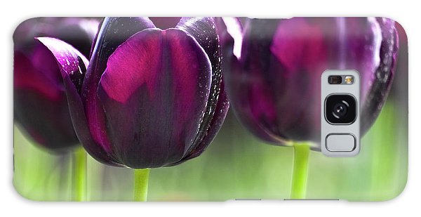 Galaxy Case featuring the photograph Purple Tulips by Heiko Koehrer-Wagner