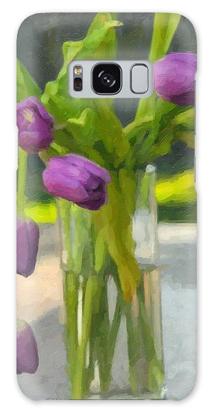 Purple Tulips Galaxy Case by Kenny Francis