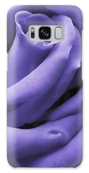 Purple Velvet Rose Flower Galaxy Case