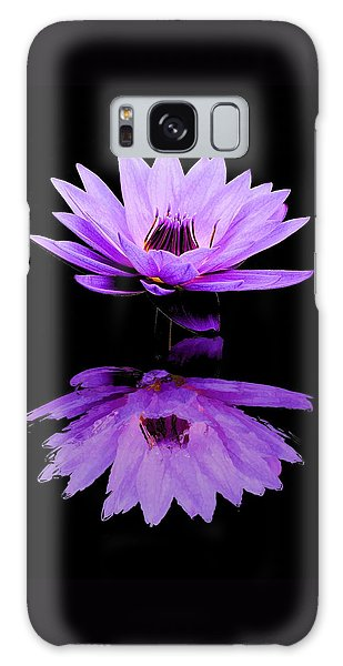 Purple Water Lily Galaxy Case