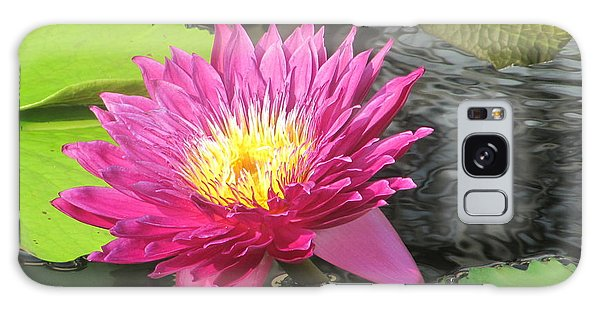 Purple Water Lily Galaxy Case by Richard Reeve
