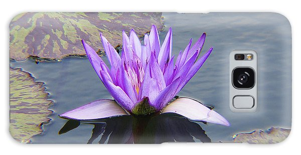 Purple Water Lily With Lily Pads One Galaxy Case