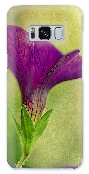 Purple Wave Petunia Galaxy Case by MaryJane Armstrong