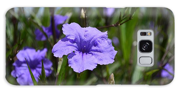 Purple Wild Flower Galaxy Case
