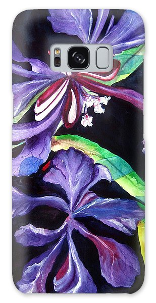 Purple Wildflowers Galaxy Case by Lil Taylor