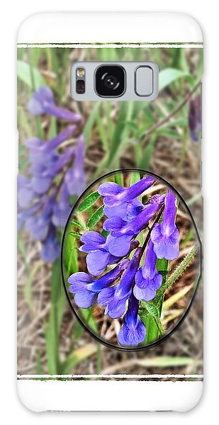 Purple Wildflowers Galaxy Case