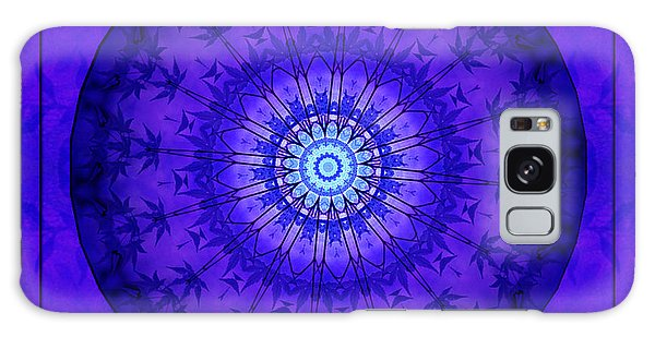 Purpleblue Galaxy Case by Barbara R MacPhail