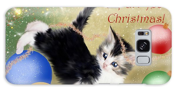Purr-fect Christmas Greetings  Galaxy Case