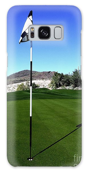 Putting Green And Flag On Golf Course Galaxy Case