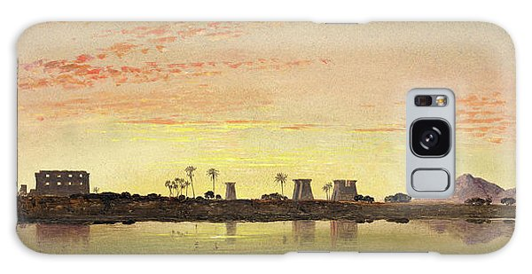 Pylon Galaxy Case - Pylons At Karnak, The Theban Mountains In The Distance by Litz Collection