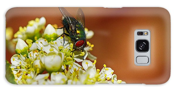 Pyracantha And Fly Galaxy Case by Karen Slagle