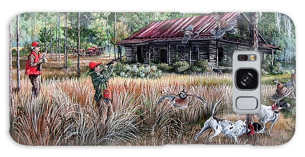 Old Florida Galaxy Case - Quail Hunting- On Familiar Ground by Daniel Butler