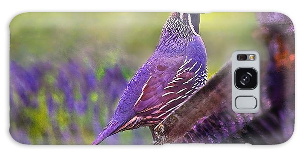 Quail In Lavender Galaxy Case