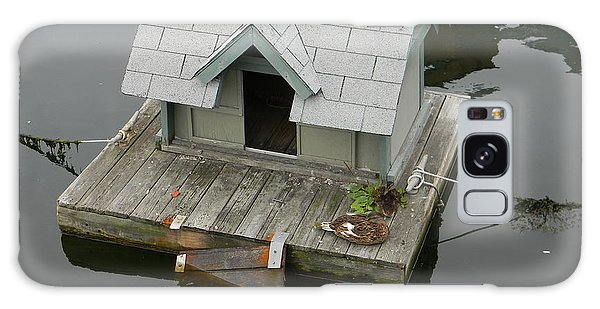 Quaint Duckling Boat House Galaxy Case