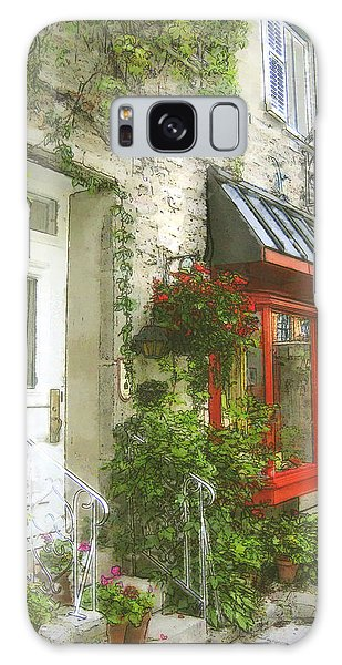 Quaint Street Scene Quebec City Galaxy Case
