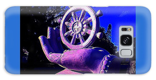 Buddhist Dharma Wheel 2 Galaxy Case by Peter Gumaer Ogden