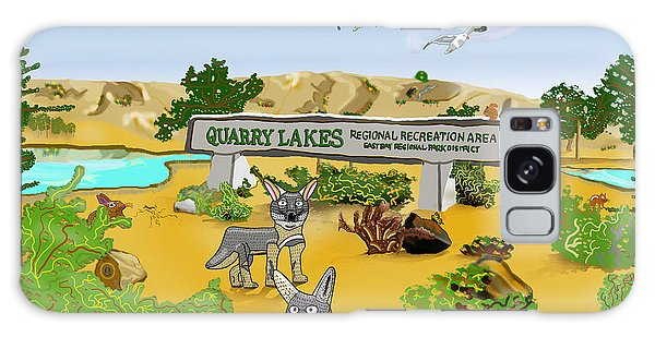 Quarry Lakes And Gray Foxes Galaxy Case