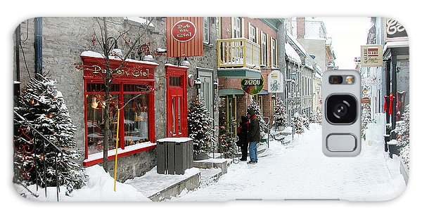 Quebec City In Winter Galaxy Case