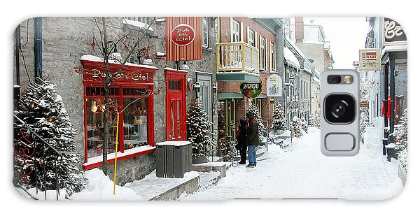 Quebec City In Winter Galaxy Case