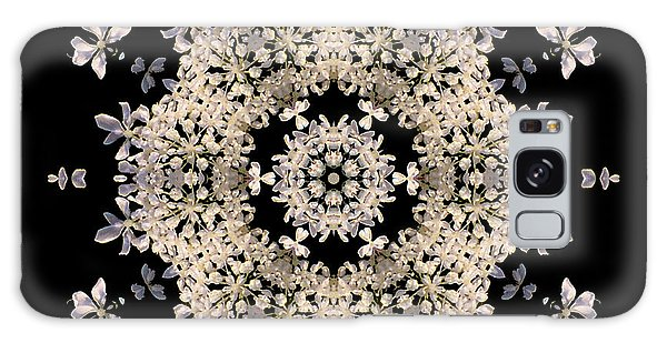 Queen Anne's Lace Flower Mandala Galaxy Case