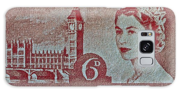 Queen Elizabeth II Big Ben Stamp Galaxy Case