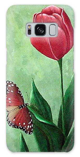 Queen Monarch And Red Tulip Galaxy Case