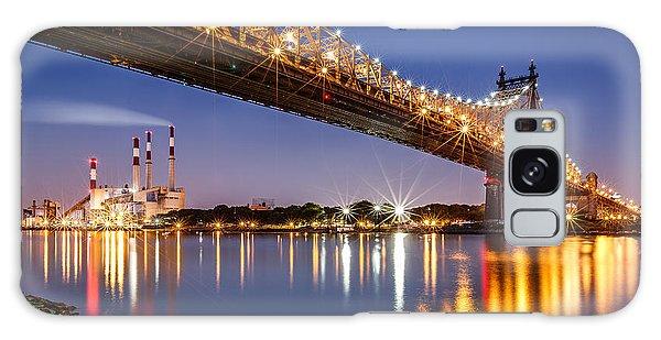Queensboro Bridge Galaxy Case by Mihai Andritoiu