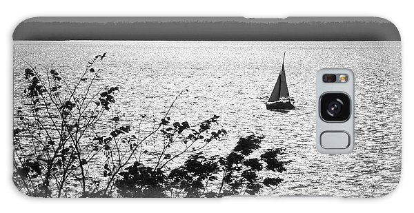 Quick Silver - Sailboat On Lake Barkley Galaxy Case by Jane Eleanor Nicholas