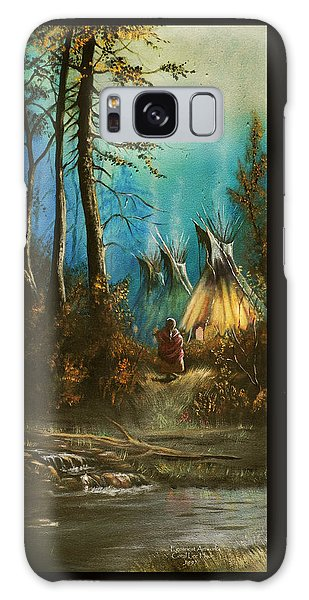 Quiet Forest With Tepees Blank Galaxy Case