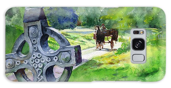 Quiet Man Watercolor 2 Galaxy Case by John D Benson
