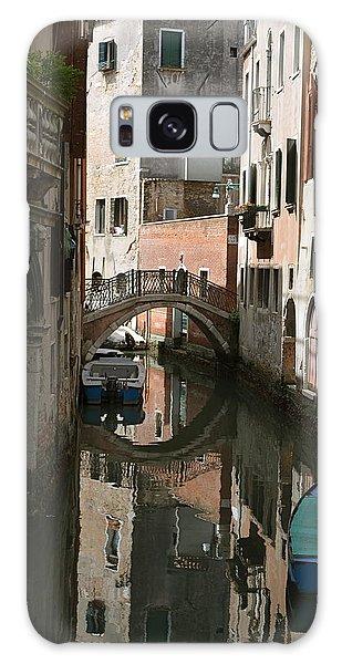 Quiet Moment In Venice Galaxy Case by Gerald Hiam