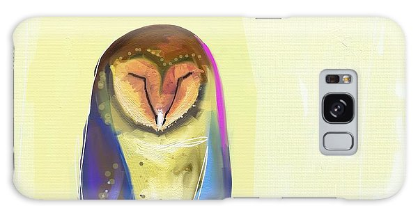 Blue Galaxy Case - Quiet Owl by Cathy Walters