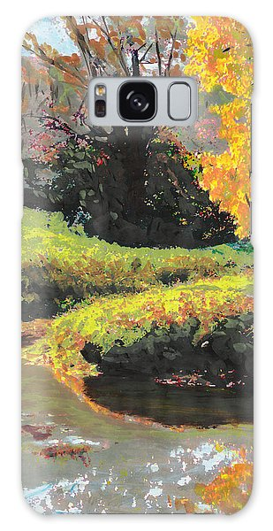 Quiet Stream Maryland Landscape Fall Colors Sketch Galaxy Case