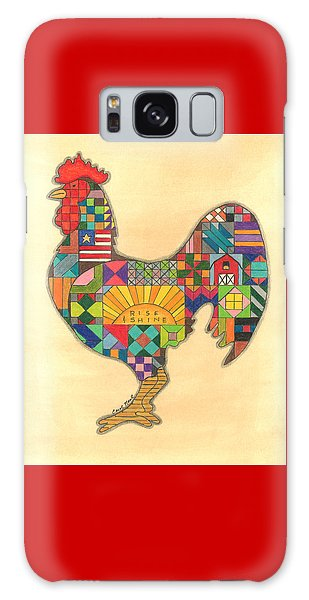 Quilted Rooster Galaxy Case
