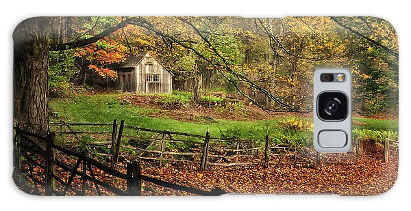 Rustic Shack- New England Autumn  Galaxy Case