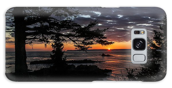 Quoddy Sunrise Galaxy Case by Marty Saccone