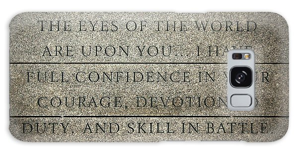 Quote Of Eisenhower In Normandy American Cemetery And Memorial Galaxy Case